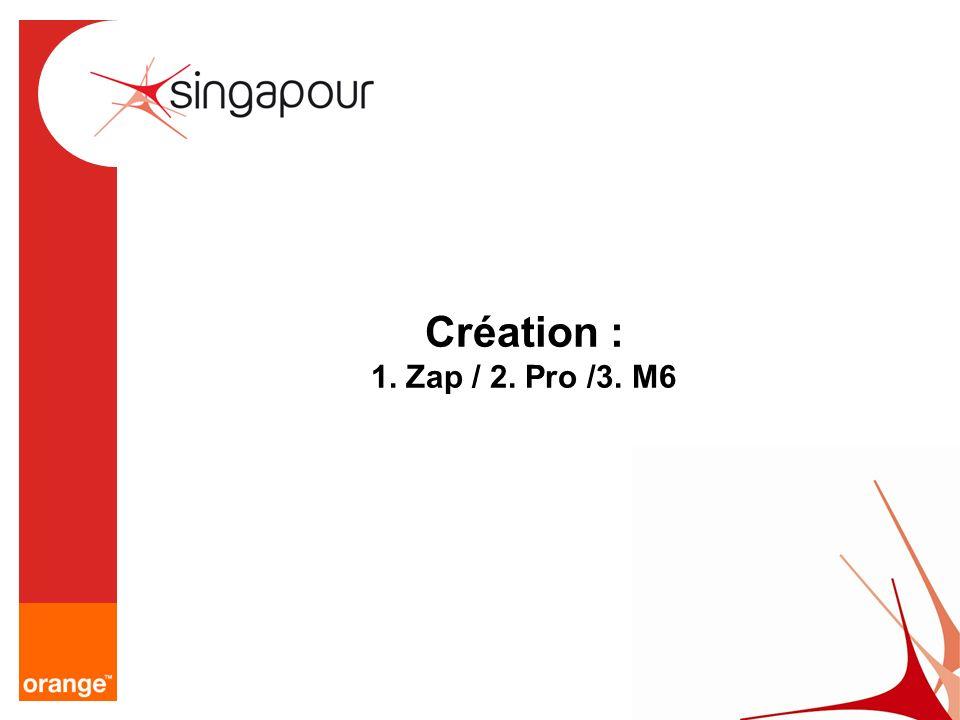 Création : 1. Zap / 2. Pro /3. M6