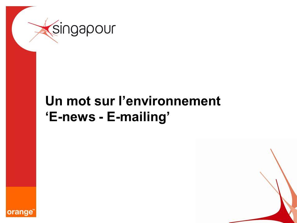 Un mot sur l'environnement 'E-news - E-mailing'