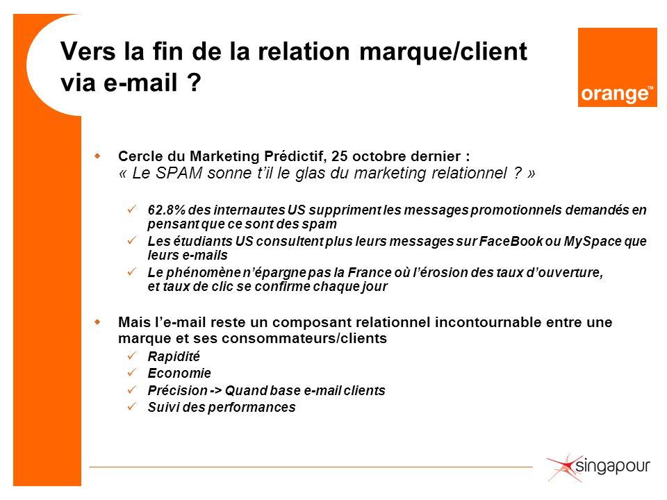 Vers la fin de la relation marque/client via e-mail