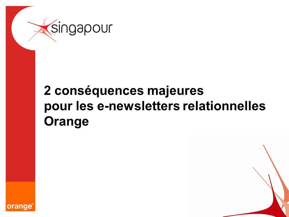2 conséquences majeures pour les e-newsletters relationnelles Orange