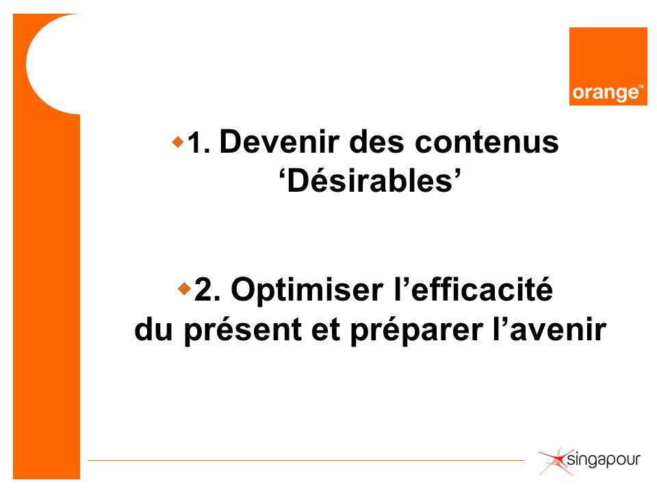2. Optimiser l'efficacité du présent et préparer l'avenir