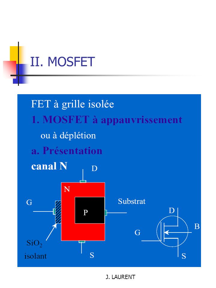II. MOSFET J. LAURENT