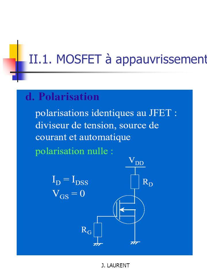 II.1. MOSFET à appauvrissement