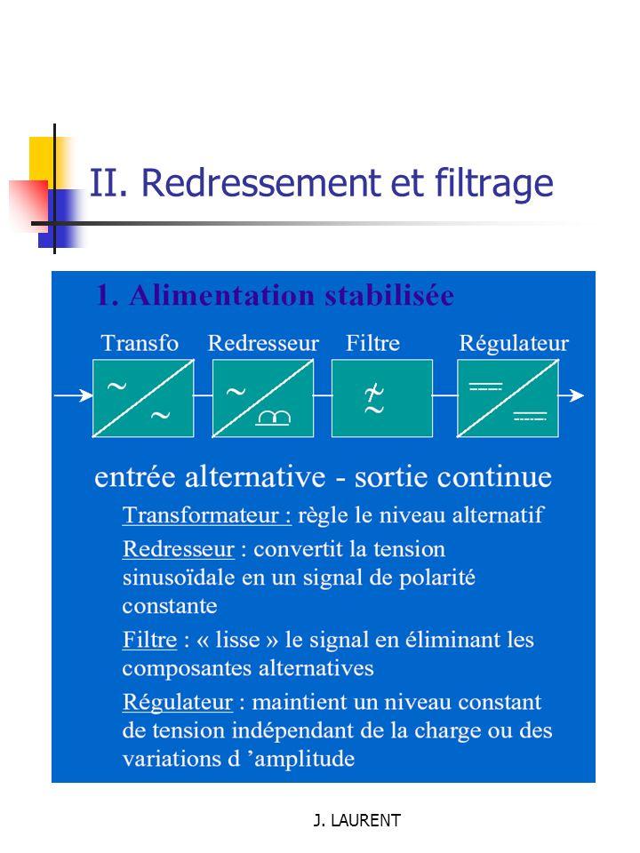 II. Redressement et filtrage