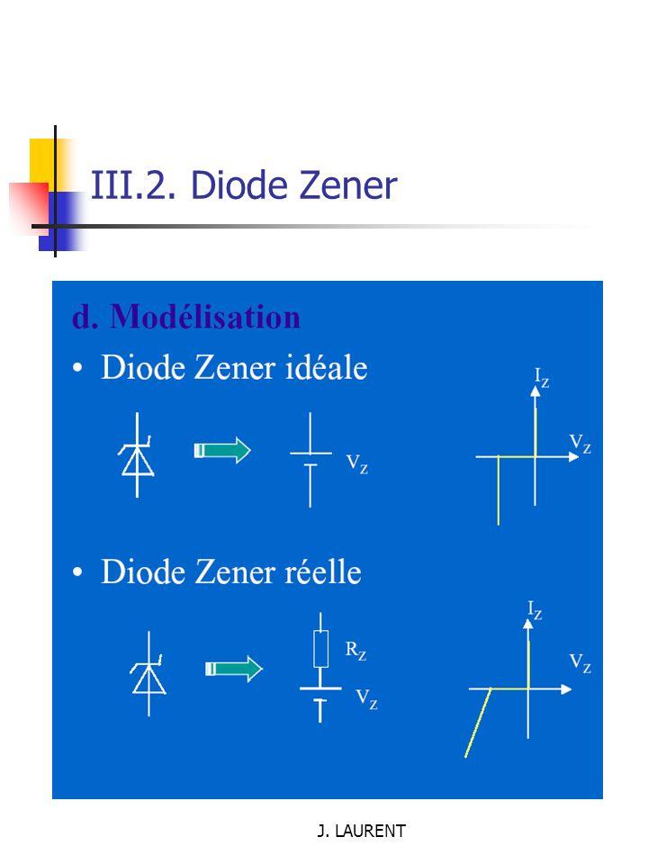 III.2. Diode Zener J. LAURENT