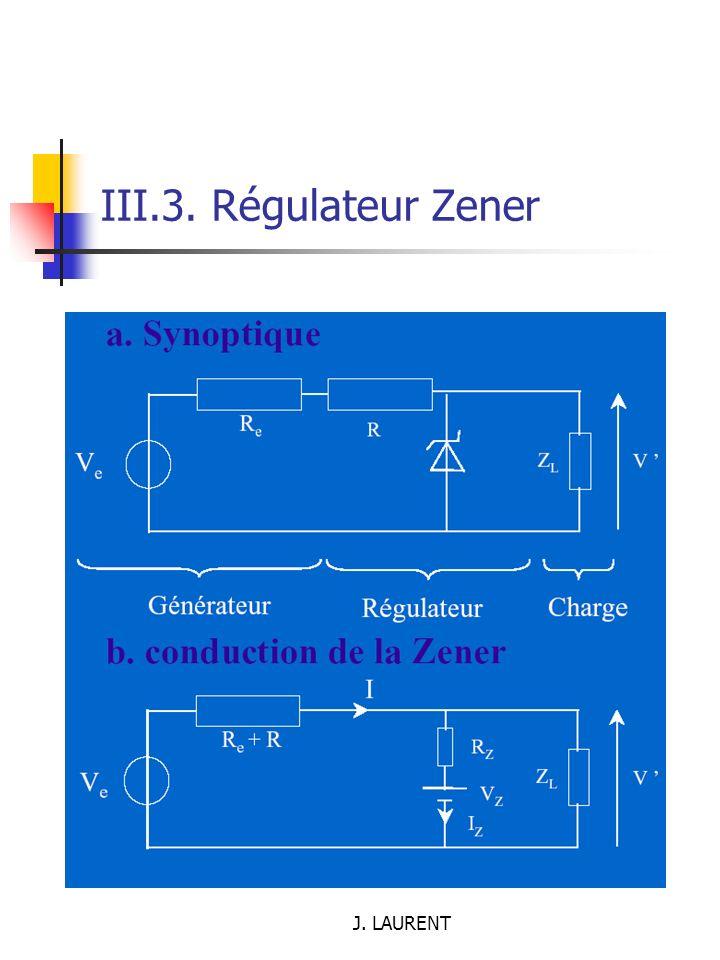 III.3. Régulateur Zener J. LAURENT