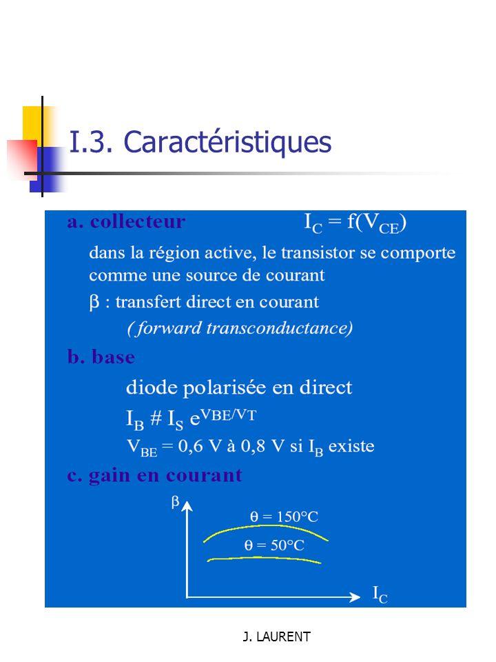 I.3. Caractéristiques J. LAURENT