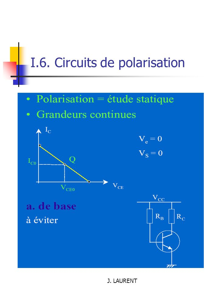 I.6. Circuits de polarisation
