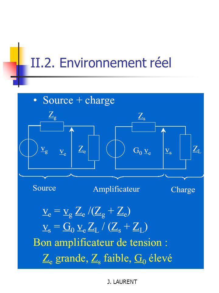 II.2. Environnement réel J. LAURENT