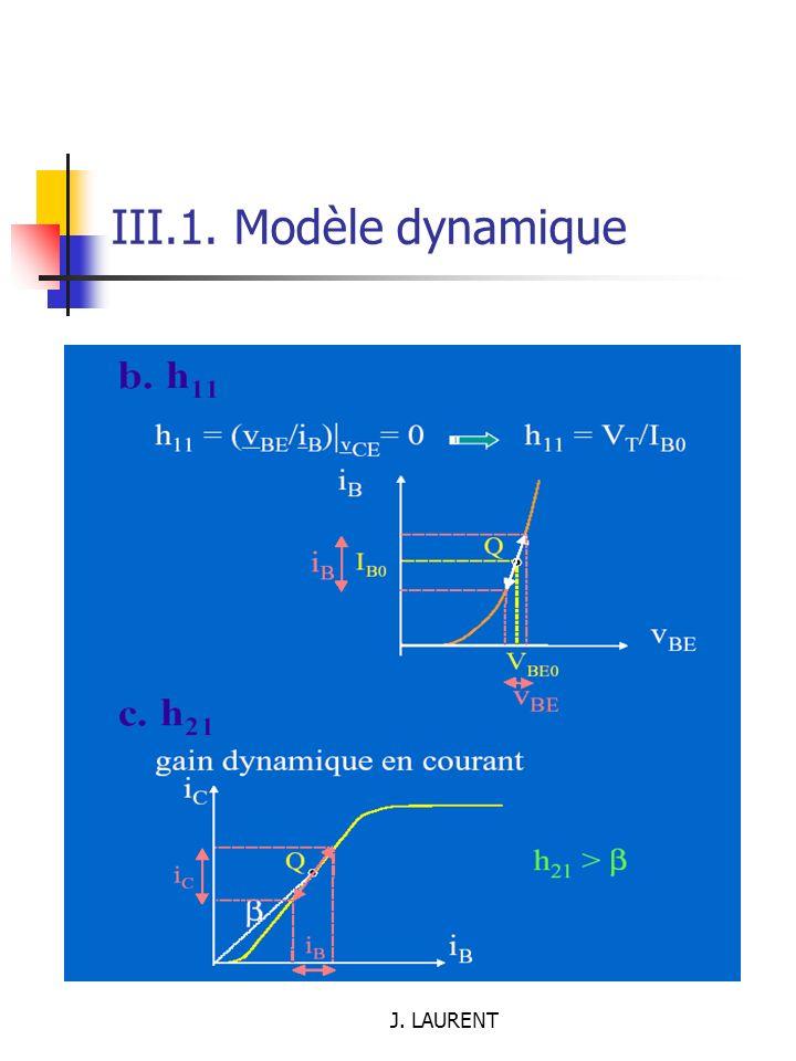 III.1. Modèle dynamique J. LAURENT