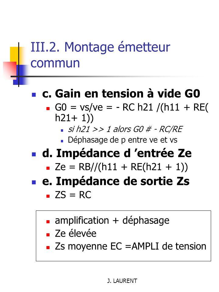 III.2. Montage émetteur commun