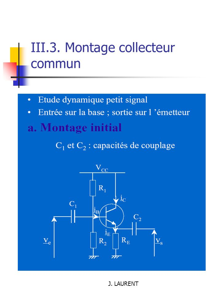 III.3. Montage collecteur commun