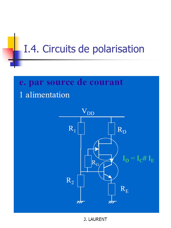 I.4. Circuits de polarisation