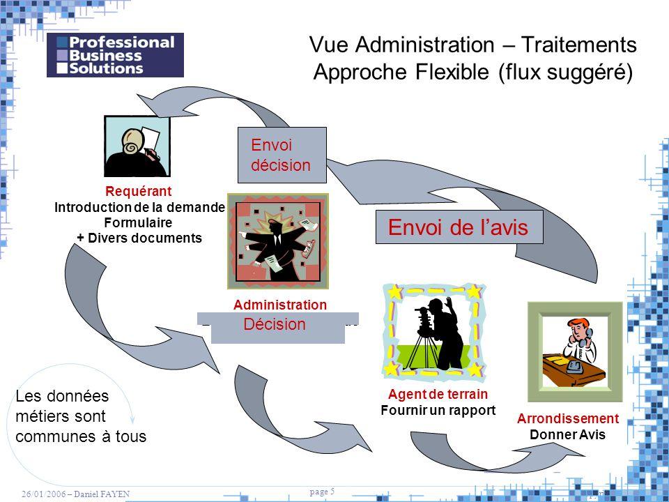 Vue Administration – Traitements Approche Flexible (flux suggéré)