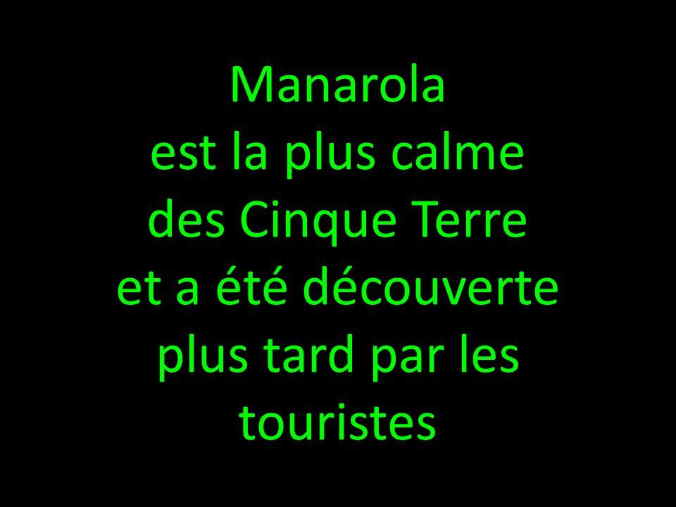 Manarola est la plus calme des Cinque Terre et a été découverte plus tard par les touristes