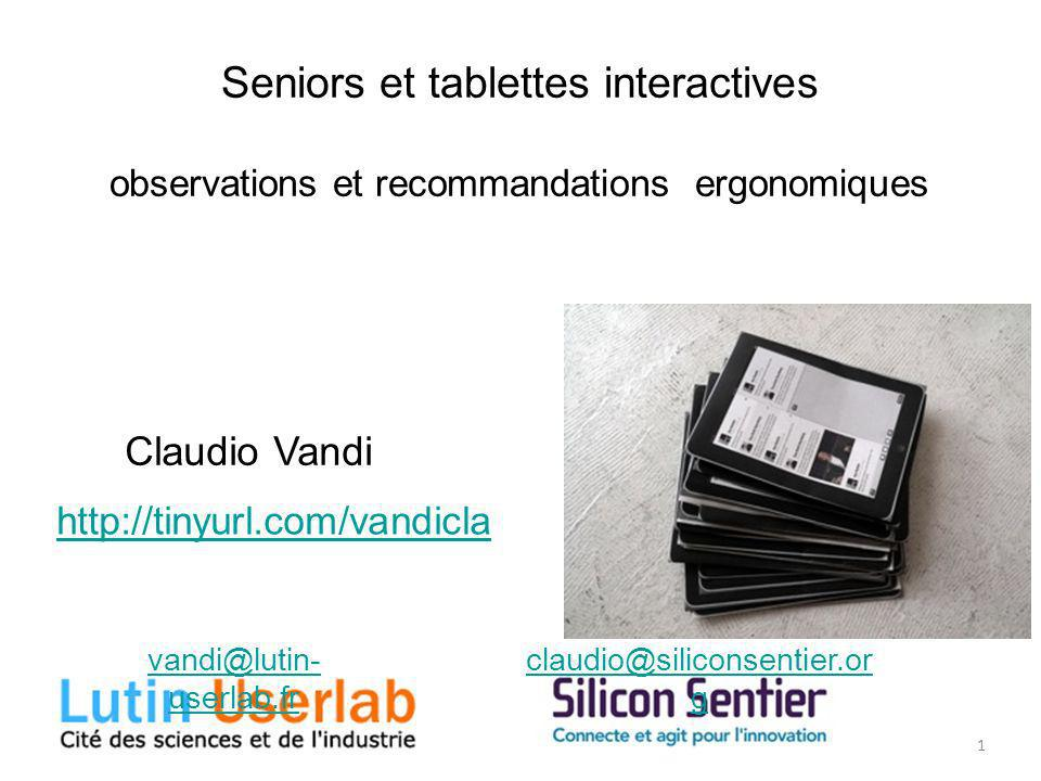 Seniors et tablettes interactives