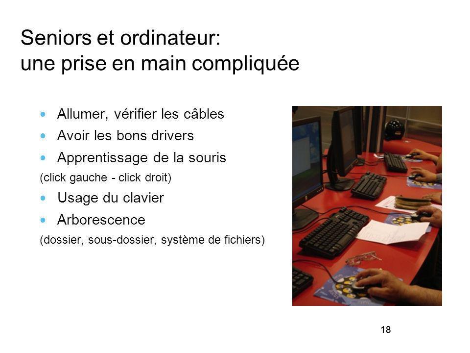Seniors et ordinateur: une prise en main compliquée