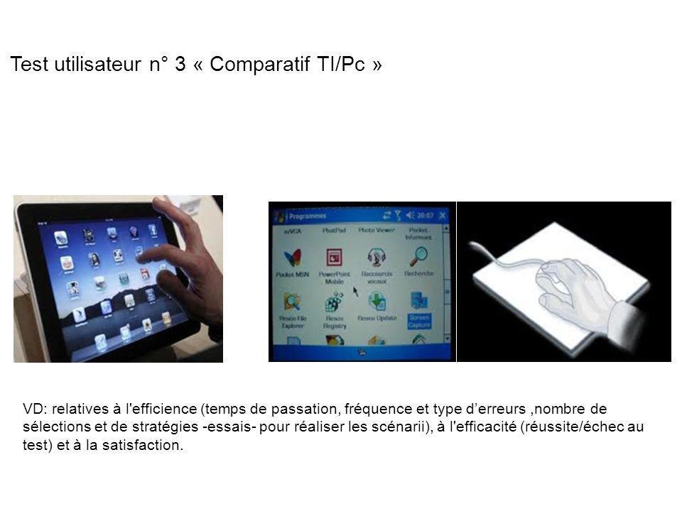 Test utilisateur n° 3 « Comparatif TI/Pc »