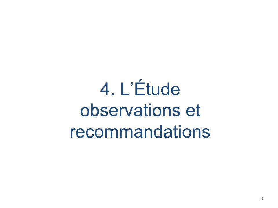 4. L'Étude observations et recommandations