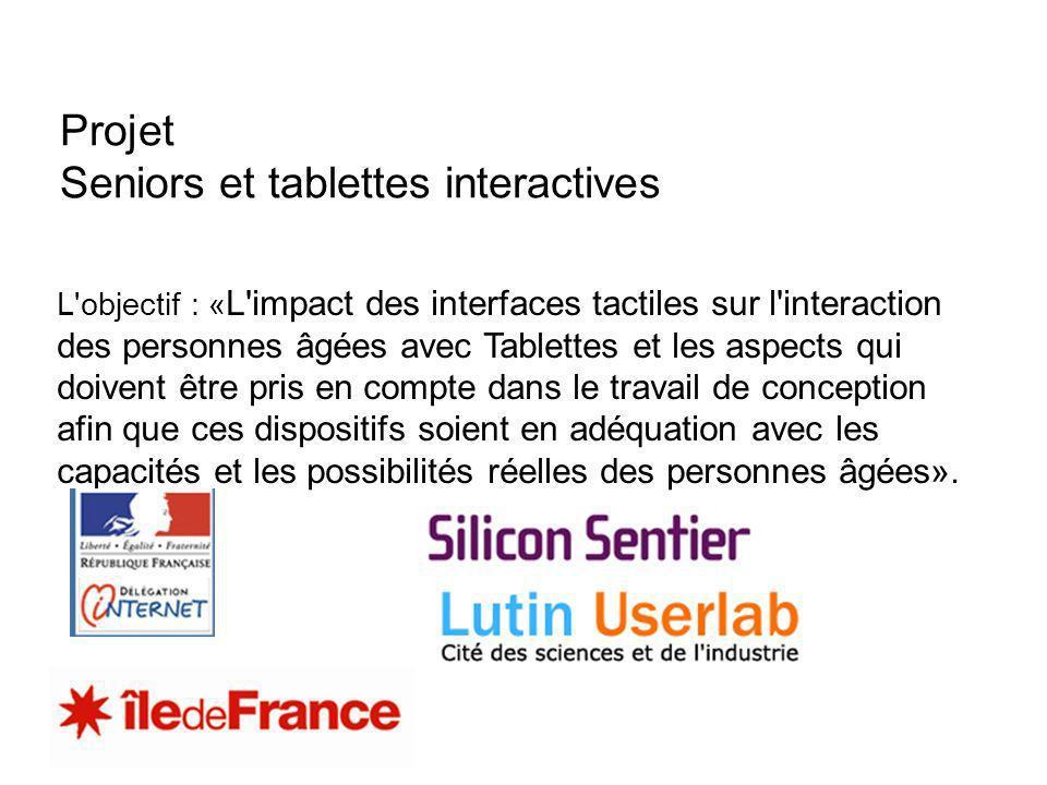 Projet Seniors et tablettes interactives
