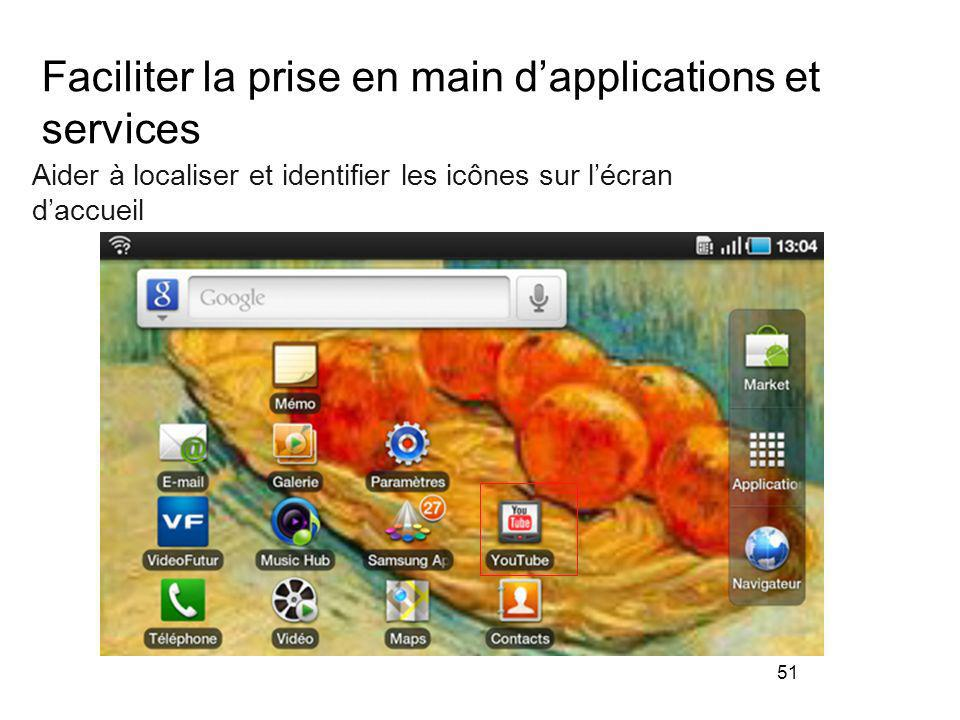 Faciliter la prise en main d'applications et services