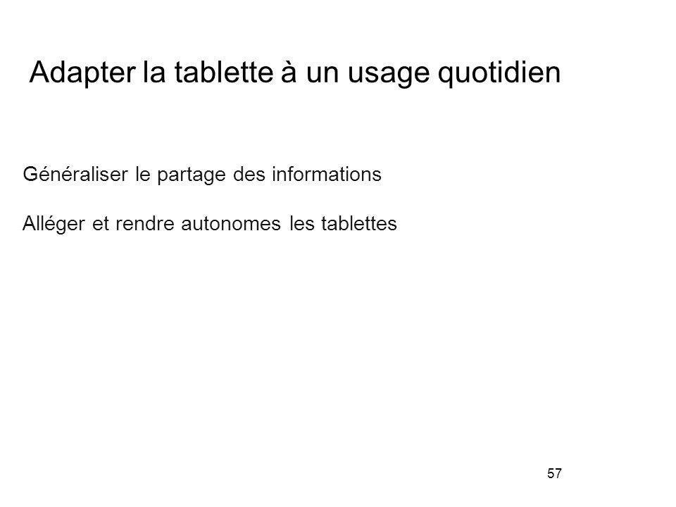 Adapter la tablette à un usage quotidien