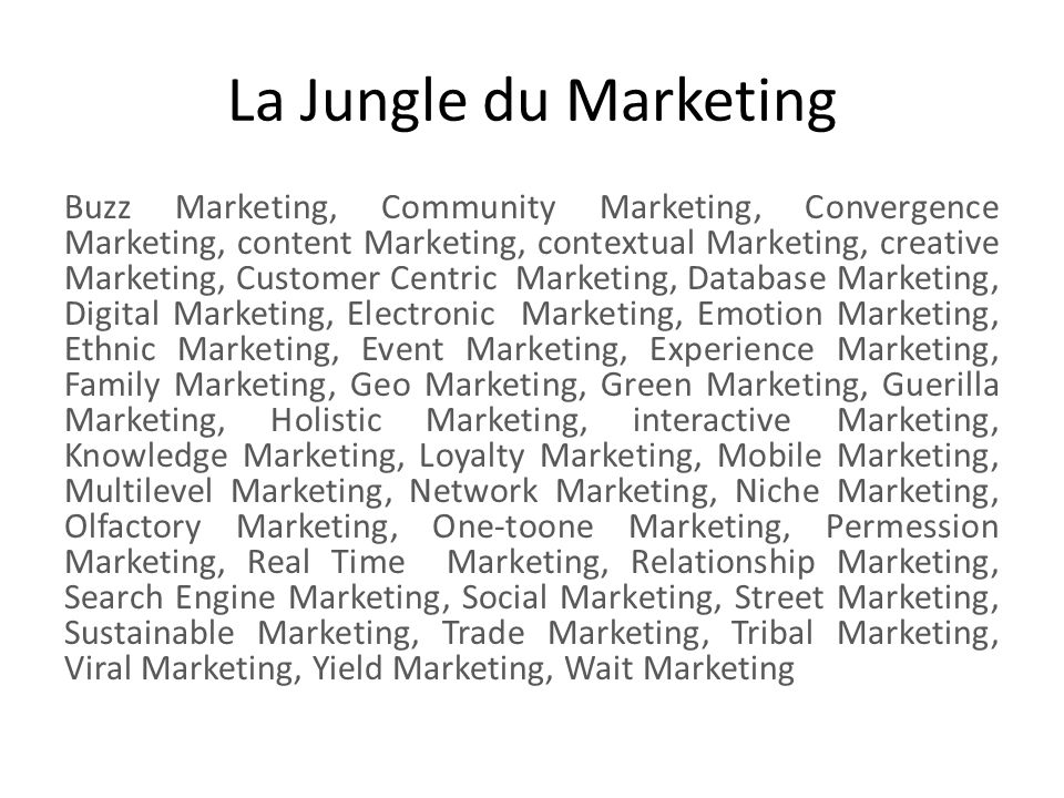 La Jungle du Marketing