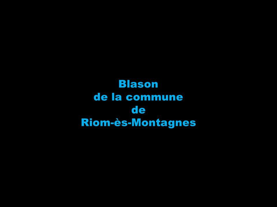 Blason de la commune de Riom-ès-Montagnes