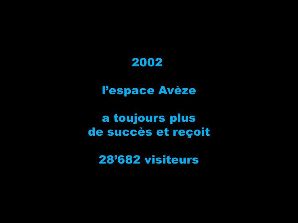 2002 l'espace Avèze a toujours plus de succès et reçoit 28'682 visiteurs