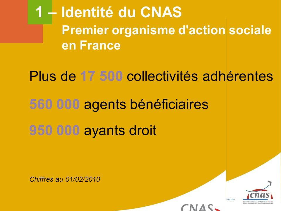 1 – Identité du CNAS Plus de 17 500 collectivités adhérentes