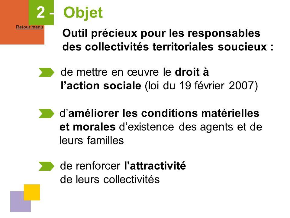 2 – Objet Retour menu. Outil précieux pour les responsables des collectivités territoriales soucieux :