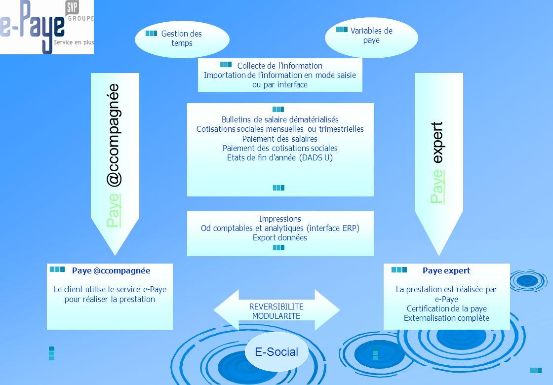 Paye @ccompagnée Paye expert E-Social Variables de paye