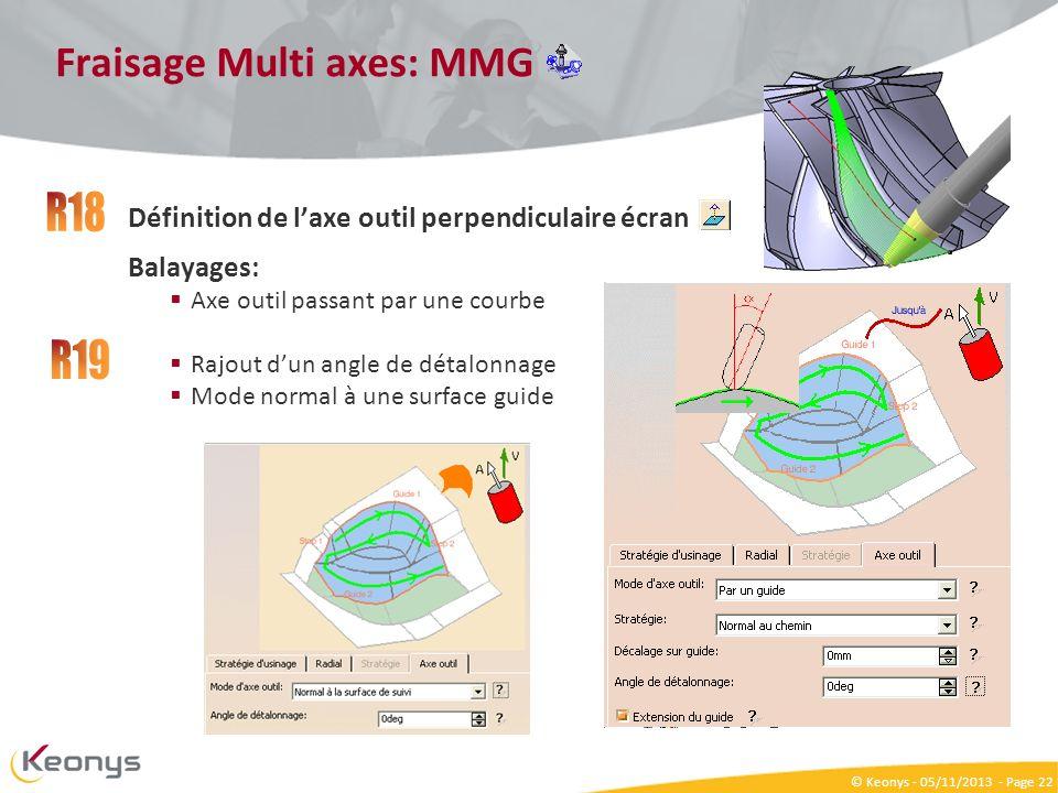 Fraisage Multi axes: MMG