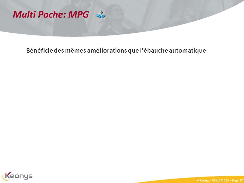 Multi Poche: MPG Bénéficie des mêmes améliorations que l'ébauche automatique