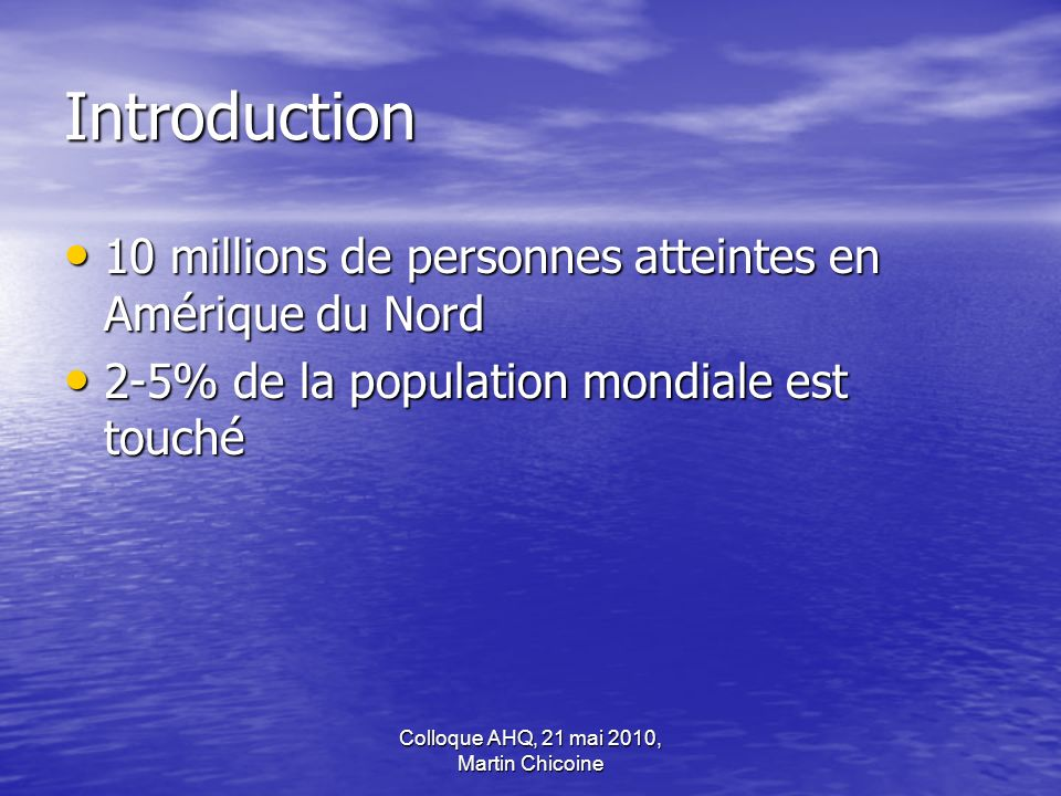 Colloque AHQ, 21 mai 2010, Martin Chicoine