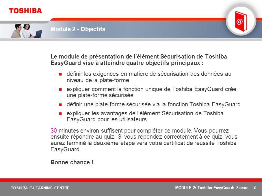 définir une plate-forme sécurisée via la fonction Toshiba EasyGuard