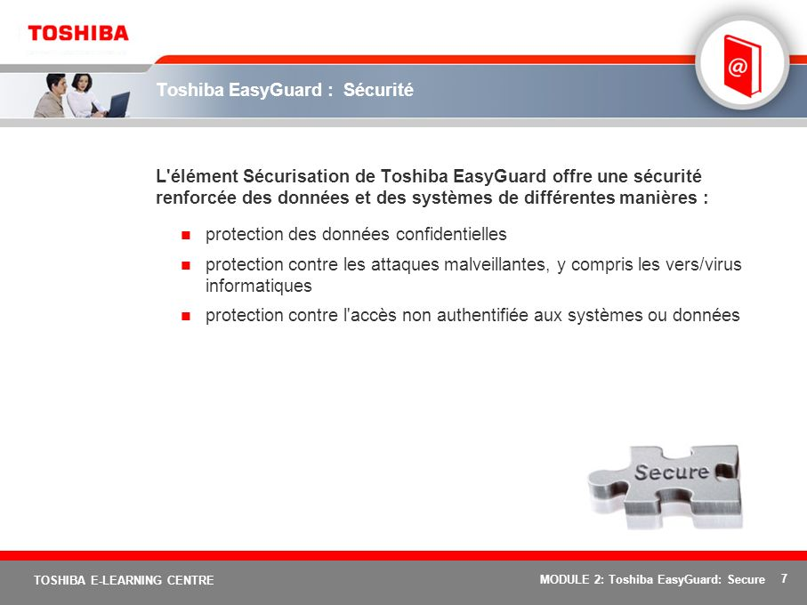 Toshiba EasyGuard : Sécurité