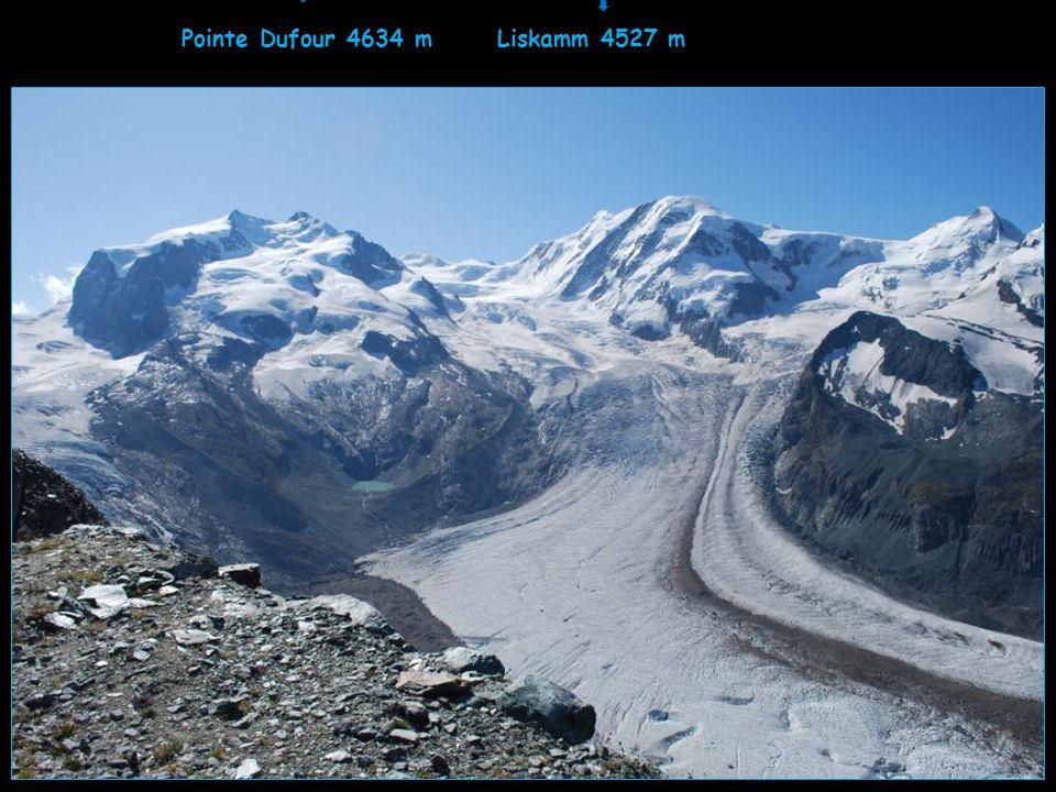 Pointe Dufour 4634 m Liskamm 4527 m