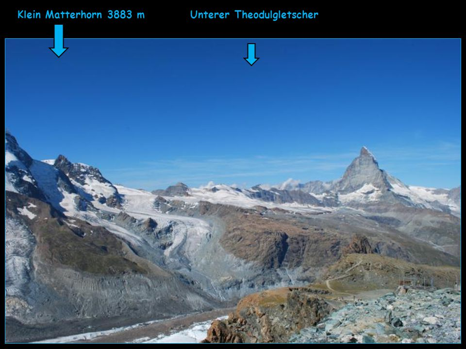 Klein Matterhorn 3883 m Unterer Theodulgletscher