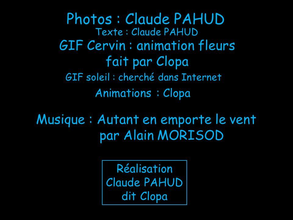 Photos : Claude PAHUD GIF Cervin : animation fleurs fait par Clopa