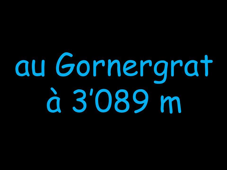 au Gornergrat à 3'089 m