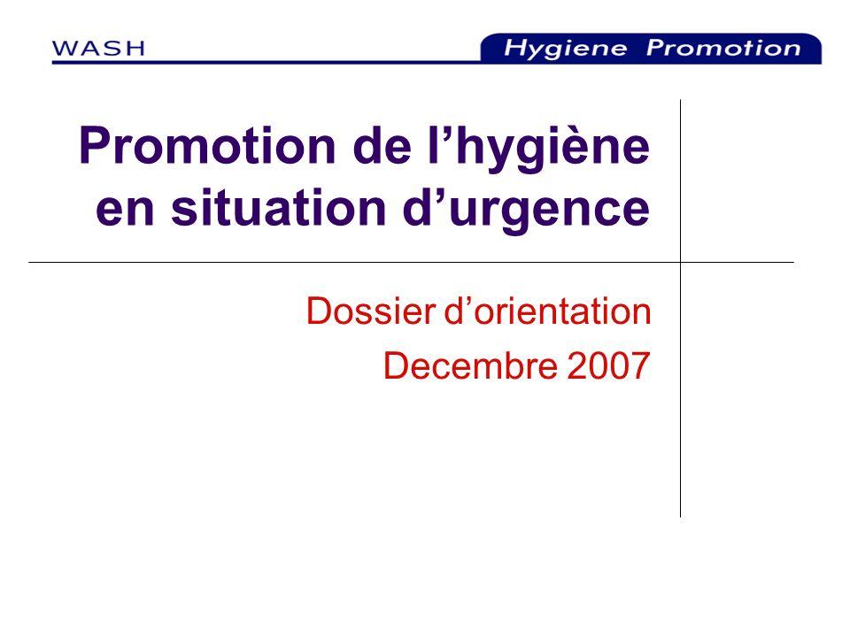 Promotion de l'hygiène en situation d'urgence
