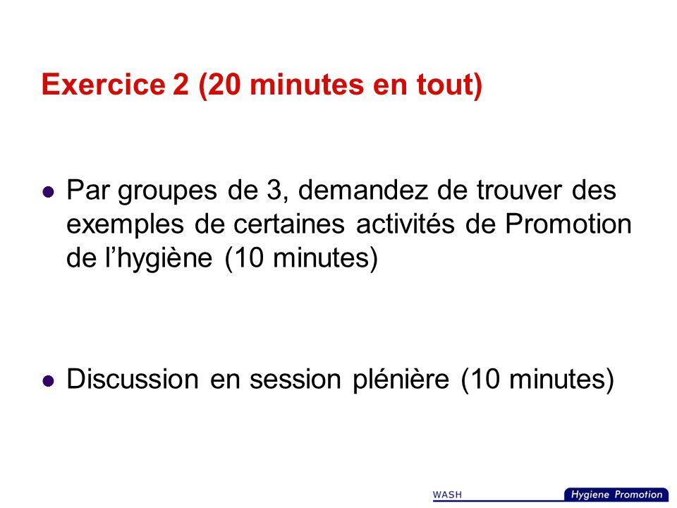 Exercice 2 (20 minutes en tout)