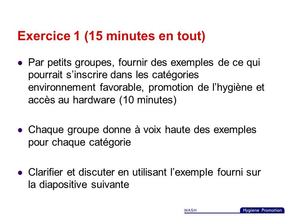 Exercice 1 (15 minutes en tout)
