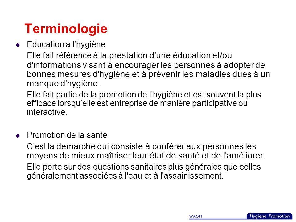 Terminologie Education à l'hygiène