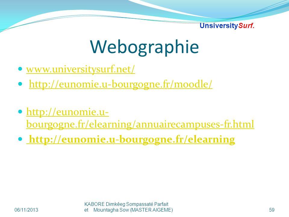 Webographie www.universitysurf.net/