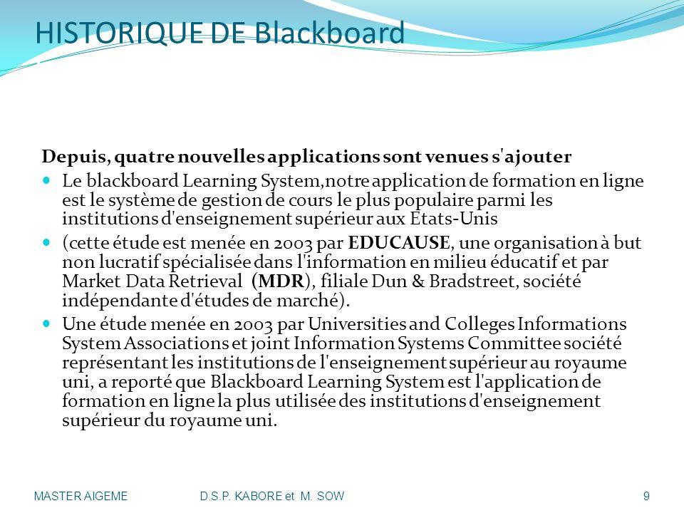 HISTORIQUE DE Blackboard II-Présentation Historique de Blackboard: