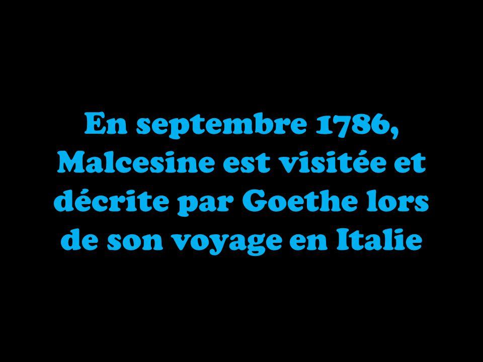 Malcesine est visitée et décrite par Goethe lors