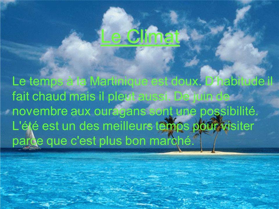 Le Climat Le Temps Le temps de Martinique
