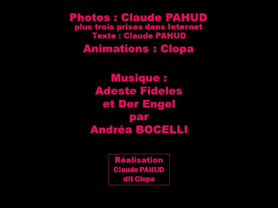 Musique : Adeste Fideles et Der Engel par Andréa BOCELLI